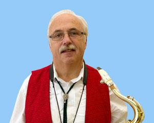 Lothar Sprenger, Saxophonist, sowie stellv. Vorsitzender und Leiter Musikausschuss.