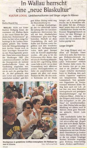 Bericht im Main-Taunus-Kurier - 24.05.2011