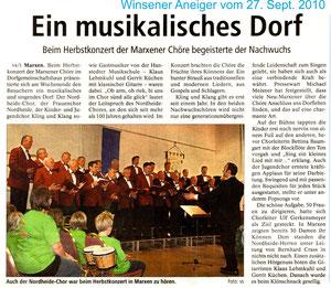 Bericht vom Herbstkonzert 2010
