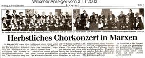 Herbstkonzert 2003