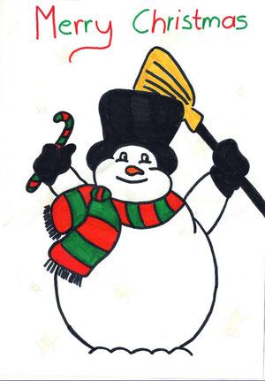 Gewinner-Weihnachtskarte von Barbara