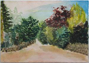 Stettiner Idylle 1990 Aquarell 17,5 x 25 cm