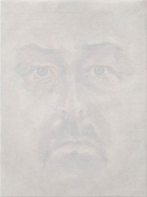 o.T. 2009 (88) Seide ü. Temperafarbe 32 x 24 cm Privatbesitz
