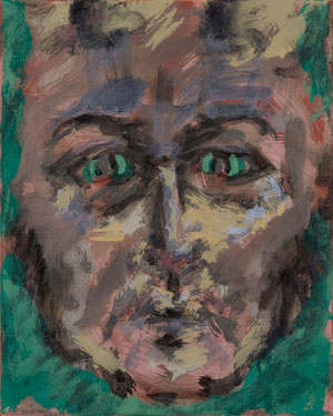 o.T. (154) 2008 Tempera 30 x 24 cm
