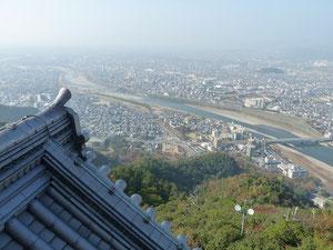 天守閣からは、岐阜市内一望・・・、絶景です、、、天下取り、信長の気分に・・・