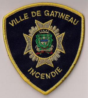 Ville de Gatineau - Incendie  (Contour jaune / Yellow border)  (Avec courone de fleurs / With flowers)  (Neuf / New)  1x