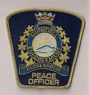 Alberta Municipal Enforcement - Claresholm - Peace Officer  (Actuel / Current)  (Neuf / New)  1x