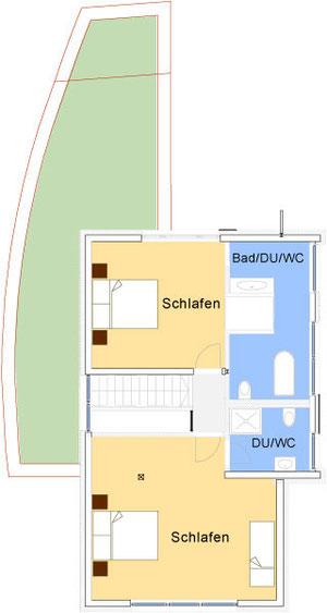 Grundriss des Obergeschoss