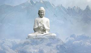 Bouddha assis, relaxation/méditation
