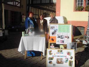Frau Brömel, Frau Freise u. Frau Goldbach am Infostand