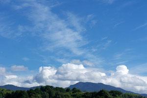 朝の北の空(多良岳)