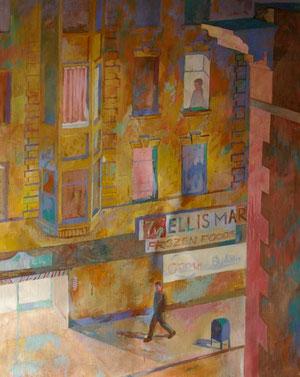 Ellis st. キャンバスに油彩 60*72cm