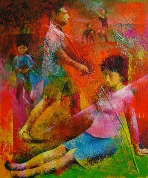 海辺の人々2006−3 キャンバスにアクリル絵の具 F20号