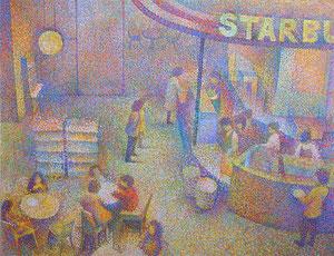 Cafe-2 キャンバスに油彩 F50