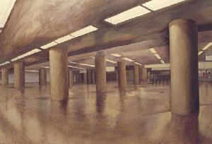 東京駅地下 キャンバスに油彩