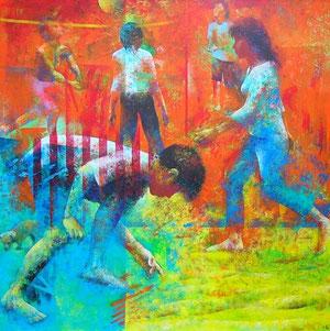 海辺の人々2006-1 パネルに油彩 S100