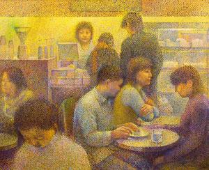 Cafe-1 キャンバスに油彩 F100