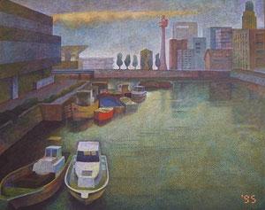 万国橋風景 キャンバスに油彩 162*130cm