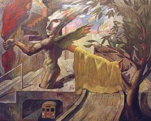 翼あるもの キャンバスに油彩 162cm*130cm