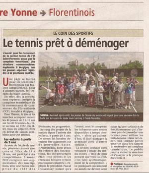 Yonne Républicaine 22/06/2012