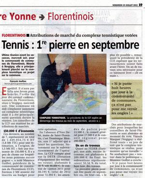 Yonne Républicaine 29 juillet 2011