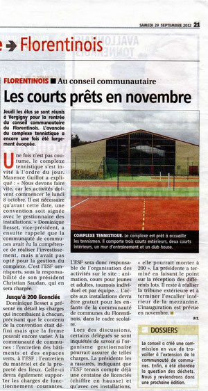 Yonne Républicaine 29/09/2012
