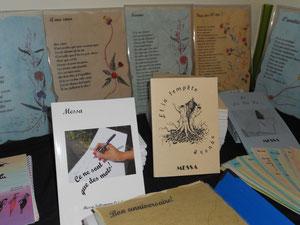 mes livres en expo à mon atelier