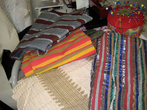Slabs of Handwoven Fabric