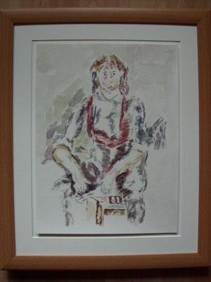 Der Knabe mit der roten Weste nach Paul Cezanne
