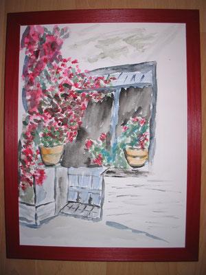 Blumenreicher Eingang