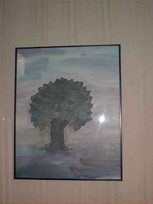 Baum in Phantasiefarben. Auf Wunsch in vielen Farben erhältlichi.