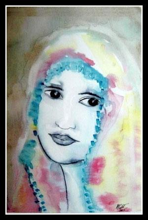 Lise, aquarelle.D.Petit