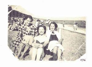 1936 Clacton Holland Beach towards the sea, Peggy Gordon Centre, Miss Amy