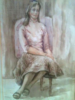 Mary Freeman water colour of Greta Ransom Whitehead 1984/85  20 X 14 inches.