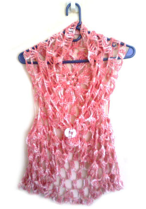 chaleco matizado crochet