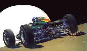 jim clark lotus 33 art auto peinture