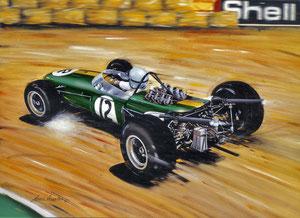 Jack Brabham 1966 (Gouache 65X50cm)
