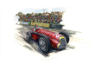 Fangio 1951 (Gouache 40X50cm)