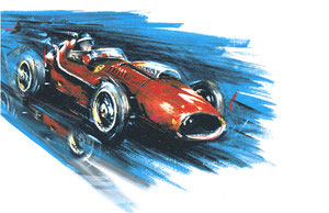 Mike Hawthorn 1958 (Gouache 20x30cm)