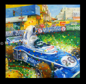 art automobile Jacques laffite automotive art f1 painting art automobile ligier grand prix art automobile