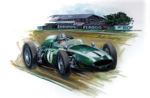 Jack Brabham 1960 (Gouache 50X40cm)