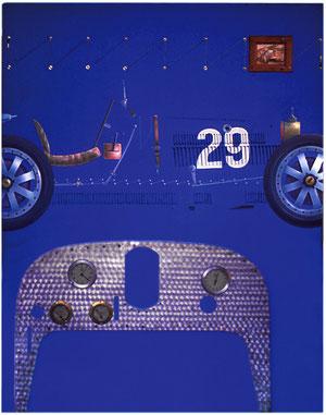 Bugatti 35 (Huile sur toile + aluminium 80x120cm)