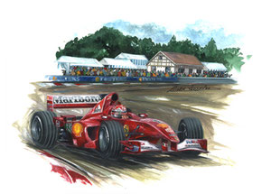 Michael Schumacher 2000 (Gouache 50X40cm)