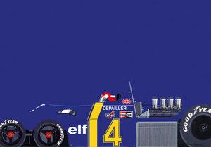 Tyrrell P34 Gouache & Acrylique /70x50cm)
