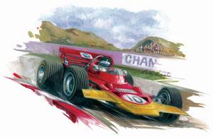 Jochen Rindt 1970 (Gouache 50X40cm)