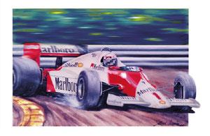 Alain Prost 1985 (Gouache50x65cm)