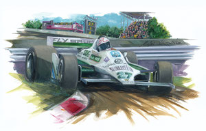 Alan Jones 1980 (Gouache 50X40cm)