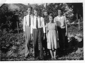 Eugen, Ludwig, Martha, Trudy, Heidi Schwager