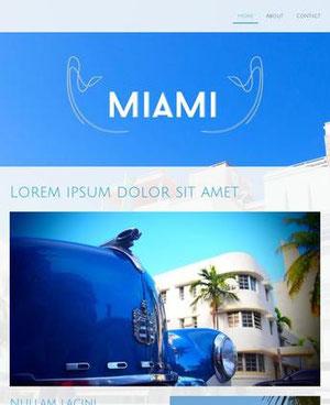 Jimdo Template Miami