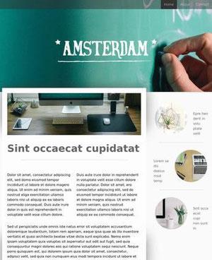 Jimdo Template Amsterdam